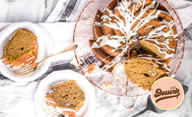 Thanksgiving Bundt Cake with Cream Cheese Glaze